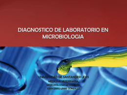 diagnostico de laboratorio en microbiologia
