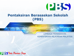 Overview PBS