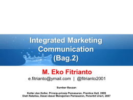 Materi Integrated Marketing Communication (bag.2) - E