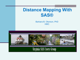 Distance Mapping With SAS
