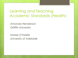 Learning and Teaching Academic Standards