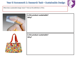 Year 8 Homework 1: Research Task – Sustainable Design