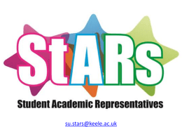 StARs presentation for lectures 2014/15