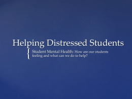 Retention and Student Mental Health