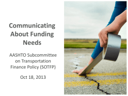 Communicating About Funding Needs