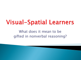 Visual Spatial Learners - Gilbert Public Schools