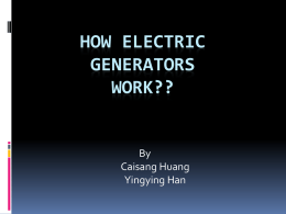 How electric generators work??