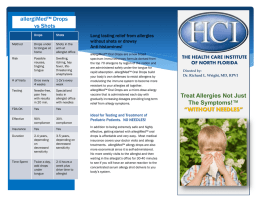 Brochure - The Health Care Institute of North Florida