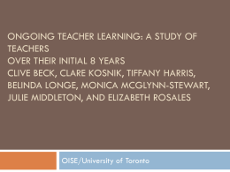 ONGOING TEACHER LEARNING: A STUDY OF