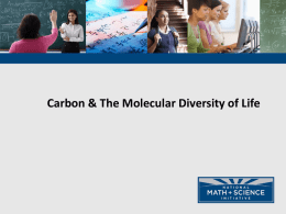 03 AP Bio Carbon and the Molecular Diversity of Life