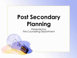 Post Secondary Planning - River Dell Regional School District