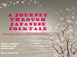 A JOURNEY THROUGH JAPANESE FOLKTALE
