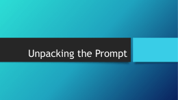 Unpacking the Prompt