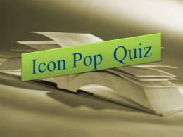 Icon Pop Quiz - WordPress.com