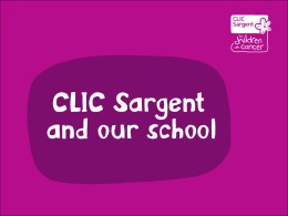 CLIC Sargent assembly PowerPoint presentation