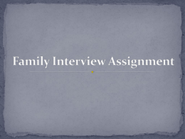 Family Interview Assignment