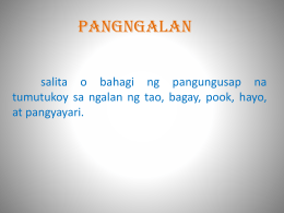 pangngalan 1. - WordPress.com