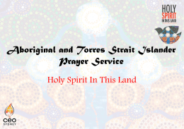 Aboriginal and Torres Strait Islander Prayer Service