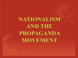 Nationalism and the Propaganda Movement