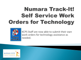 Numara Track-It Self Service Work Orders for Technology