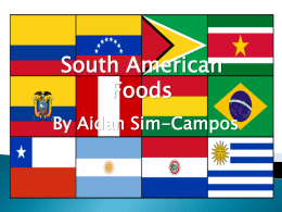 South American Food PowerPoint