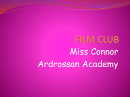 Film Club Powerpoint