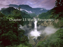 Chapter 13 Water Resources - Zamorascience