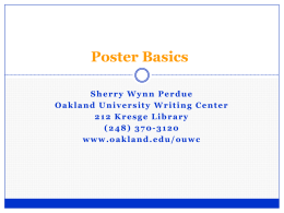 Poster Basics for Humanities Projects
