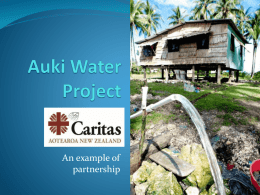Auki water project: example of