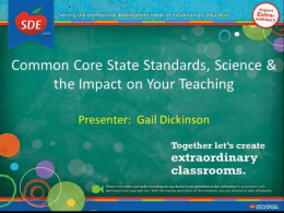 Common Core State Standards & Science