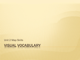 Map Skill with Visual Vocabulary 13
