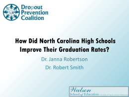 How Did North Carolina High Schools Improve Their Graduation