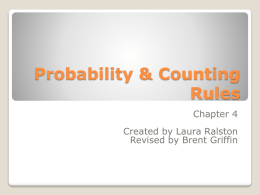 Probability & Counting Rules