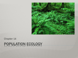 Populations, Communities & Ecosystems