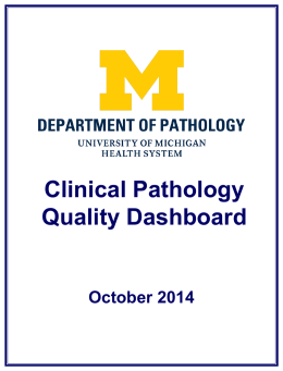 October - Pathology - University of Michigan
