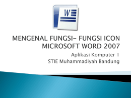 mengenal icon word 2007