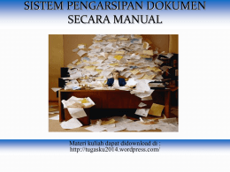 sistem pengarsipan manual