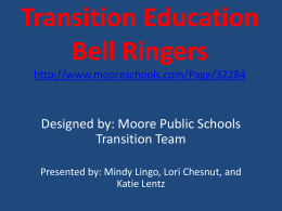 Transition Education Bell Ringers (PPT)