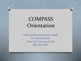 Preparing for the Compass Test - National Park Community College