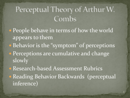 Perceptual Theory of Arthur W. Combs