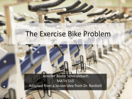 The Exercise Bike Problem