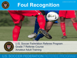 Grade 7 - Foul Recognition WNY12913