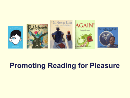 Reading for pleasure - College of Social Sciences and International