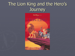 The Lion King and the Hero`s Journey
