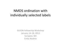 NMDS ordination with individually selected labels
