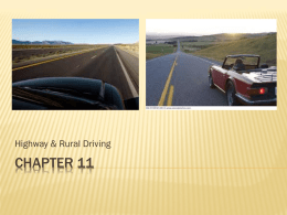 Chapter 11 - Rural Highway Driving