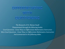 Differentiating with Questioning