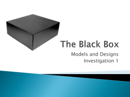 The Black Box - Cole`s Science Pages