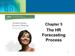 Chapter 7 - Strategic Human Resource Planning