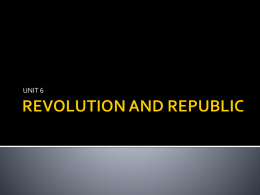 REVOLUTION AND REPUBLIC